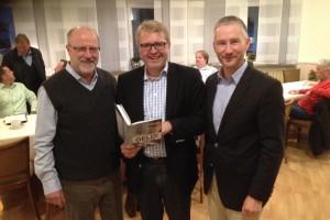 Beim ersten Liberalen Monatstreffen (von links): Siegfried Mühlenweg, Frank Schäffler, Stephen Paul