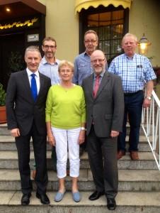 Mehr interkommunale Zusammenarbeit: (von links) Stephen Paul, Andreas Stocksmeier, Marlene Ortmann, Dieter Roesner, Siegfried Mühlenweg, Willy Südmersen.