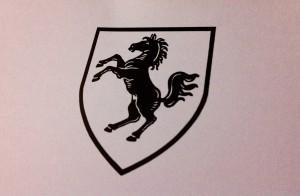 Das Wappen des Kreises Herford, Wittekinds Ross auf silbernem Grund