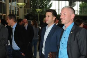 FDP-Kreisvorsitzender Stephen Paul (rechts) mit dem stellv. Kreisvorsitzenden Chris Dimitrakopoulos