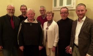 von links: Siegfried Mühlenweg, Andreas Stocksmeier, Willi Südmersen, Arthur Linnenbröker, Marlene Ortmann, Dieter Rösner, Stephen Paul