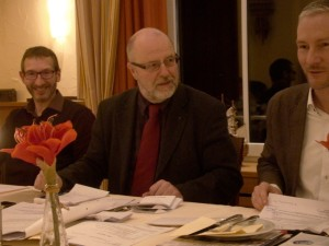 von links: Andreas Stocksmeier, Siegfried Mühlenweg, Stephen Paul