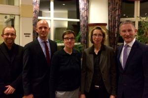 Carsten Wollny, Ralph Bombis MdL, Meike Lübbe, Birgit Rehberg und Stephen Paul (von links).