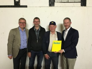 v.l. Frank Schäffler, Adreas Stocksmeier, Friedrich-Wilhelm Südmersen, Stephen Paul