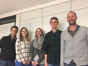 Auf dem Foto von links nach rechts: Chris Dimitrakopoulos, Benita Henning, Monique Ronsiek, Nico Klinger, Burkhard Michler