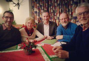 Diskutierten über den LWL-Haushalt (v.l.): Andreas Stocksmeier, Marlene Ortmann, Stephen Paul, Siegfried Mühlenweg und Artur Linnenbröker. (Foto: privat)